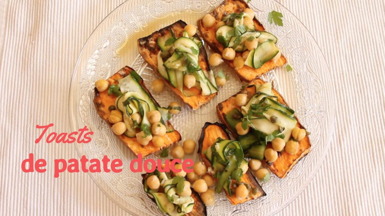 Toasts patate douce - recettes végétariennes et vegan - atirelarigot